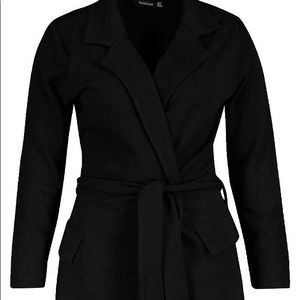 Plus Size Belted Blazer